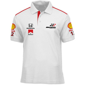 Camisa Polo Fórmula Retrô - Mclaren Mp4/4 1988 - Formula 1