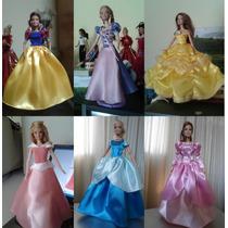 Vestidos Para Boneca Barbie Princesas Disney*escolha O Seu*