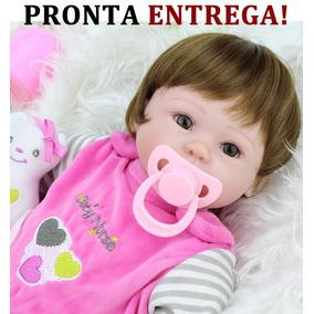 No Brasil Bebê Reborn Boneca Silicone Bonecas Bebe Reborn
