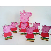 25 Souvenirs + 5 Central Peppa Pig - Peppa Hada Fibrofacil