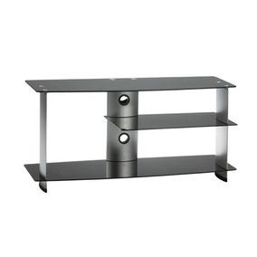 Rack Tv Sala Vidro Temperado Alumínio Escovado - Rkm120 Elg