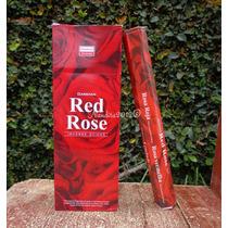 Incienso Darshan Rosa Roja Hexagonal 120 Varas