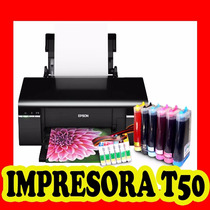 Impresora Epson T50 Con Sistema Continuo Nueva De Paquete