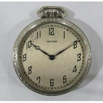 Relógio De Bolso Walthan Caixa De Níquel, Todo Original