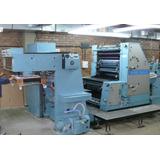 Roland Favorit Offset 2 Colores Maquina Impresora 52x72