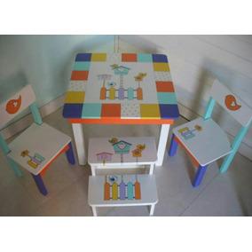 Mesitas Infantiles Pintadas A Mano Para Nenas