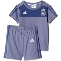 Conjunto Playera Short Real Madrid Summer Bebe Adidas Ap1854