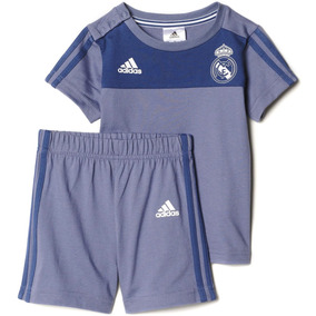 Conjunto Playera Short Real Madrid Summer Bebe adidas Ap1854