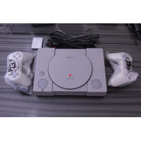Playstation 1 Fat + 2 Controles + 10 Jogos + Memory Card