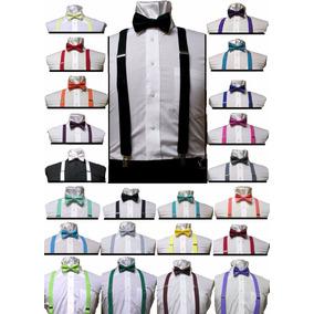 Lote Com 30 Kits Suspensório + Gravata Borboleta Promoção