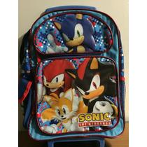 Sonic Back Pack Con Llantitas Y Lonchera $1490