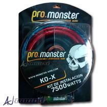 Kit De Cables Monster K0x Premium Amplificador Alto Voltage