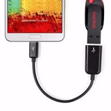 10 Cabo Adaptador Micro Usb Otg Pendrive P/ Celular E Tablet