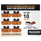 Lanterna Lateral Led Caminhão Carreta Baú C/sup (kit C/ 10)