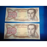 Billete De 100 Bs. Año 1998