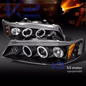 Farol Projector Angel Led Honda Accord 94/97 Black + Xenon