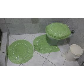 Jogo De Banheiro De Croche Barbante 3 Peças