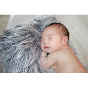 Manta Pelúcia Pelo Longo Newborn 50x80cm Pele Artificial