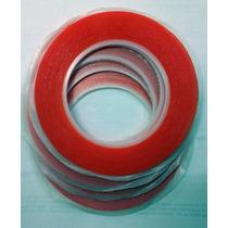 Cinta Adhesiva Doble Cara Transparente 3mm 25mts, Celulares.
