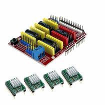 Kit Cnc Shield V3 + 4 Drivers A4988 Grbl Dissipador De Calor