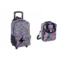 Kit Mochila Rodinhas Escolar Monster High Sestini 15t06