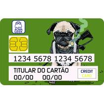 Pug Justiceiro - Adesivo Para Cartão De Crédito E Débito