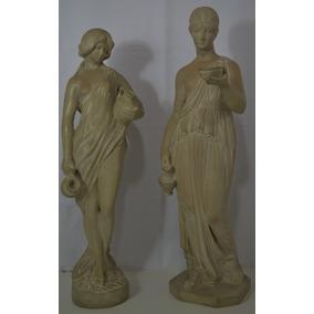 Par De Esculturas Em Resina - Clássicas