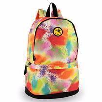 Mochila Escolar Feminina Juvenil Smiley Music Sm120 Colors