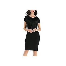 Vestido Flecos Desigual M Con Envío Gratis