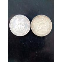 Numismatica Lote De 2 Monedas One Shilling-inglaterra