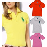 Kit Atacado 05 Camisas Polo Feminina Camiseta Blusa Babylook