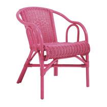 Cadeira Beach Rosa Em Vime Com Braço - Ur S/juros S/frete