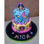 Torta Decorada 4 Kg Simbolo Paz Cumpleaños Infantil 15 Años