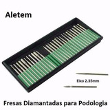 30 Fresa Broca Diamantada Para Podologia Eixo 2.35mm Pd81