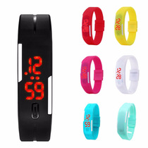 Reloj Led Touch Pulcera Unisex Moda Deportes Ajustable Color