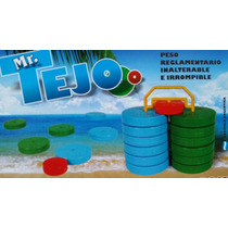 Juego De Tejos Playeros Plasticos --inalterable E Irrompible