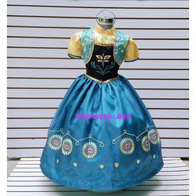 Disfraz Vestido Anna Frozen Fever Ana Fiebre Congelada Elsa