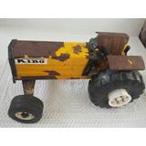 Tractor Kino De Chapa Juguete Antiguo No Matarazzo