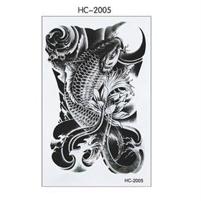 Tatuagem Carpa P Branc Real Temporária Falsa 19x12cm Hc-2005