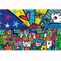 Quebra Cabeça Puzzle Romero Britto Mias Garden 150 Peça Grow