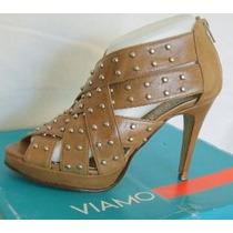 Viamo Sandalias Zapatos Talles 38, 40 Cuero Marron (ana.mar)