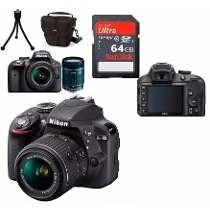 Câmera Nikon D3400+18-55+bolsa+64gb C/10+tripé Em São Paulo