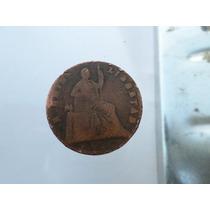 Moneda Antigua 1/4 De Real 1861 Girada 35 Grados