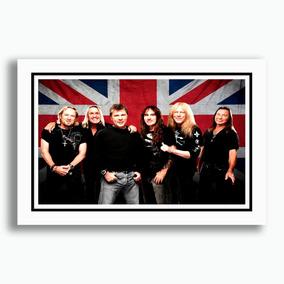 Quadro Iron Maiden 60x40cm Musica Guitarra Bandas Metal Rock