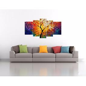 Quadro Pintura Tela Abstrato Moderno 180x90cm - Frete Grátis