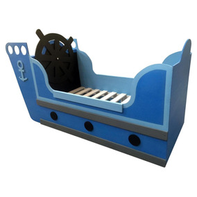 Cama En Forma De Barco Infantil