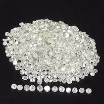 10 Diamantes Naturales 2 Puntos Si2 Color H Redondo .02 Cts