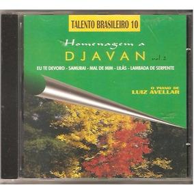 Cd Luiz Avellar -o Piano De, Homenagem A Djavan - Talento 10