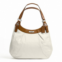 Bolso Coach Soho Leather Hobo Large White/nutmeg F Femenino