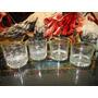 Antiguo Lote De 4 Vasos De Whisky Excelente Calidad